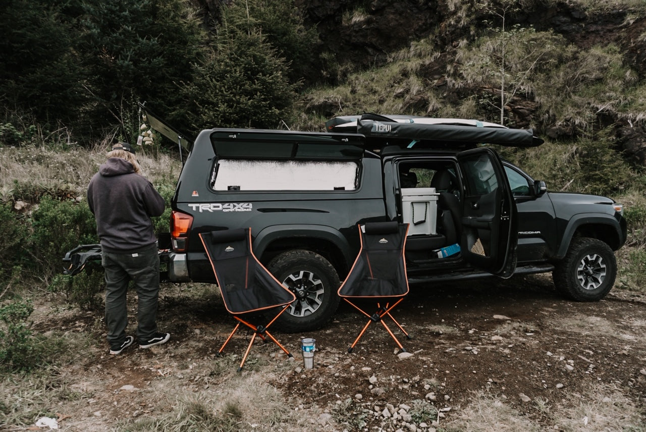 Pand-epic: How Two Adventurers Turned Furloughs Into an All-Time Road Trip - Car Camping Set Up