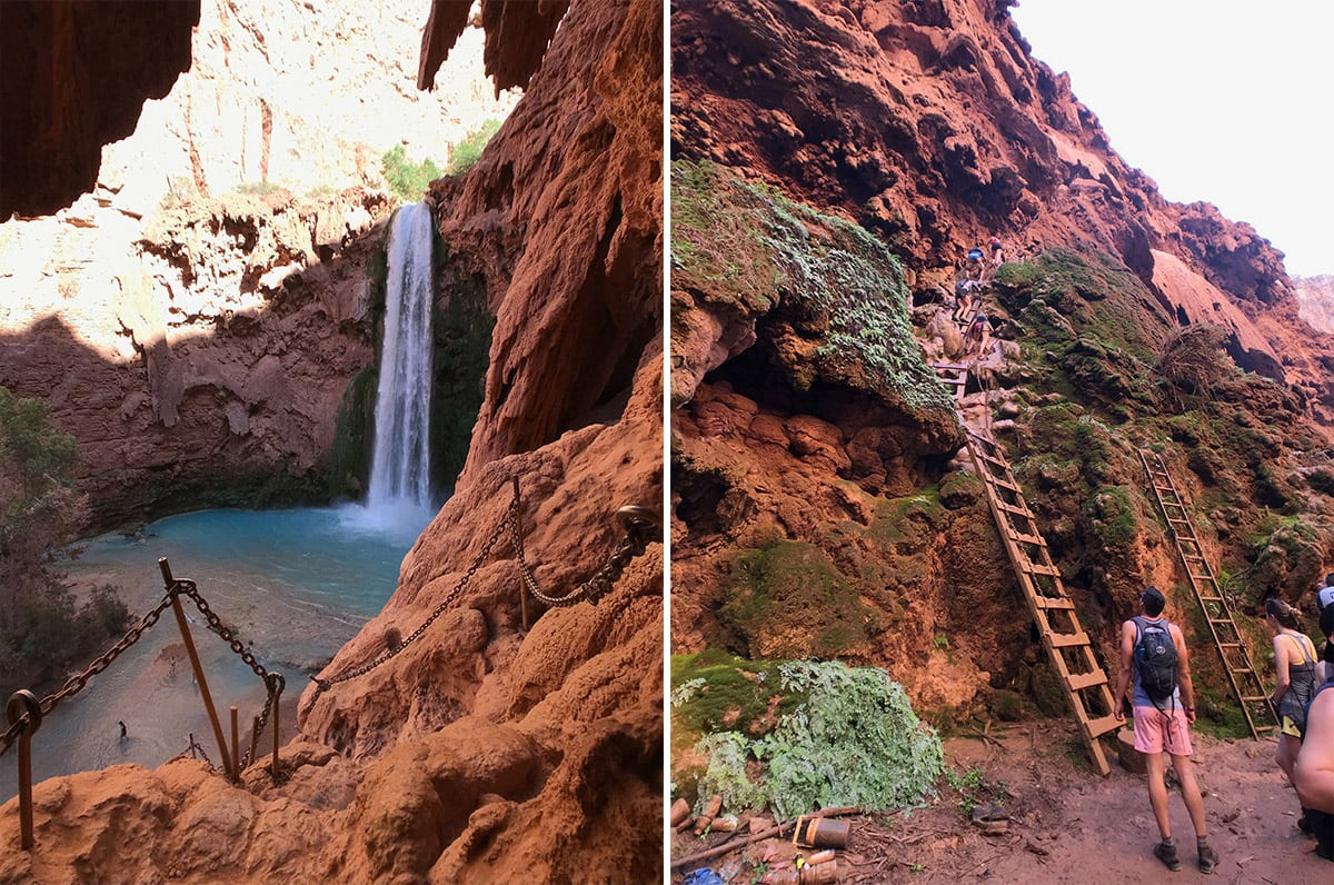 mooney falls near havasupai