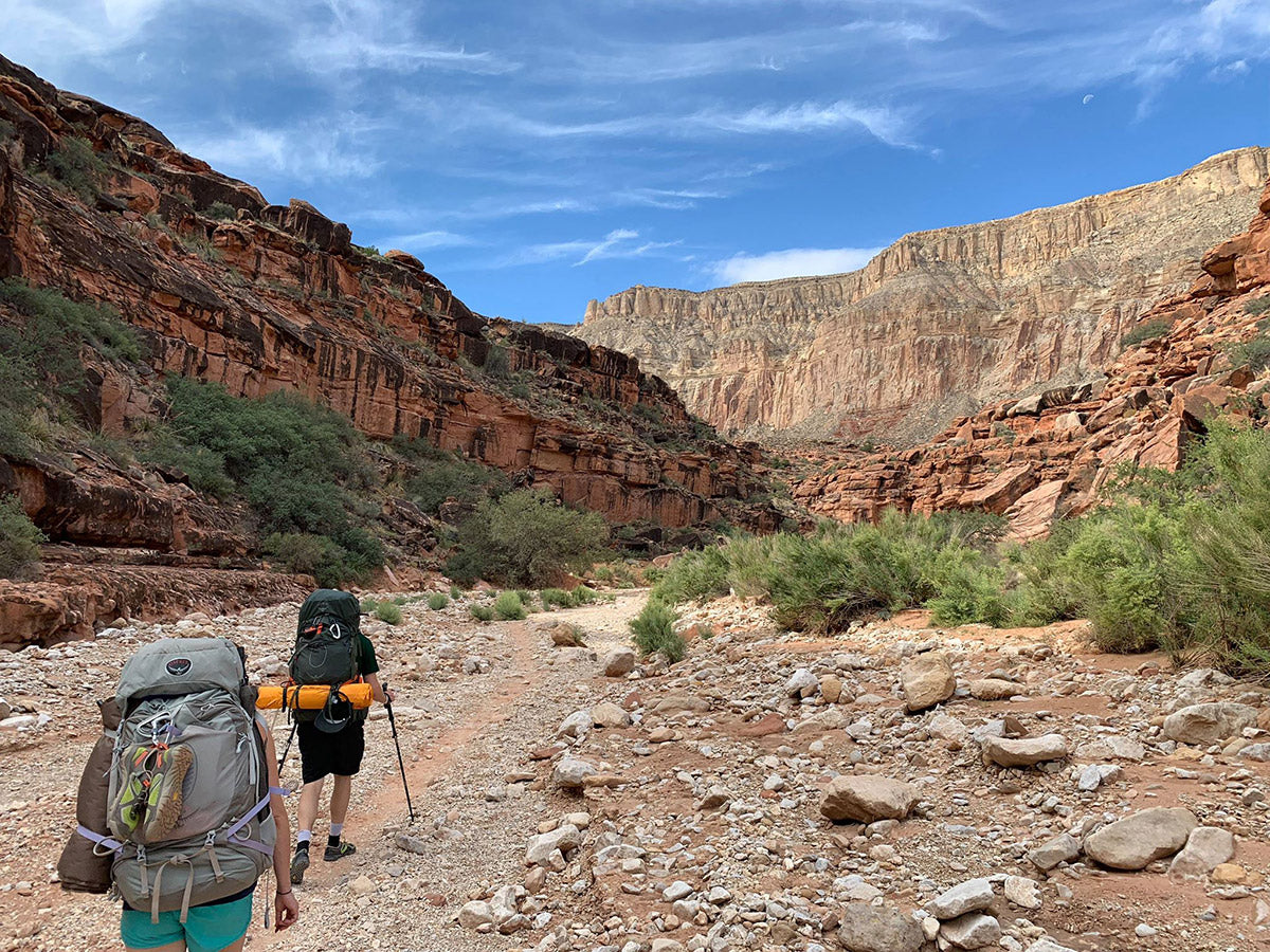 hiking out of havasupai