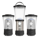 Cascade Mountain Tech 3-pack Aluminum Mini LED Pop up Lanterns with Duracell Batteries