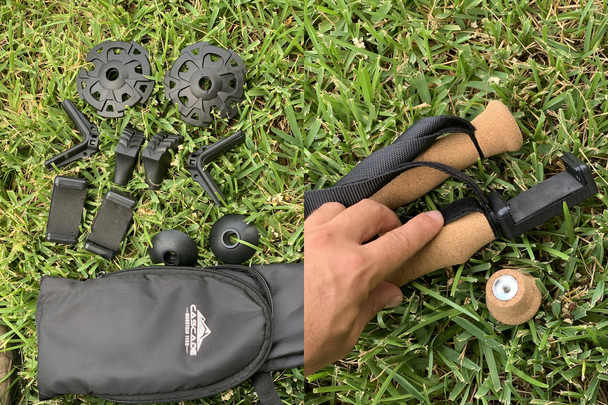 Monopod tips and baskets