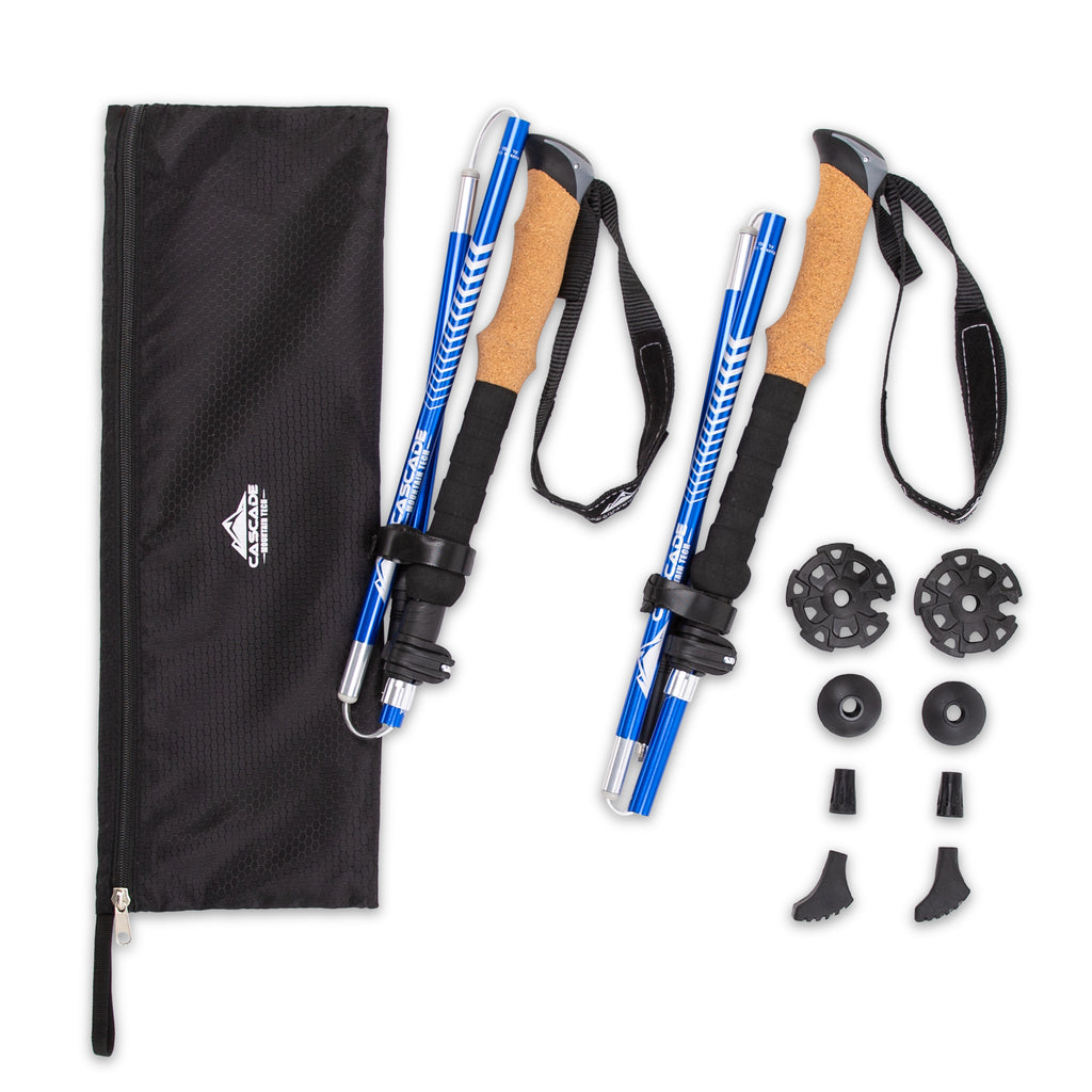 Aluminum Folding Trekking Pole with Steel Cable