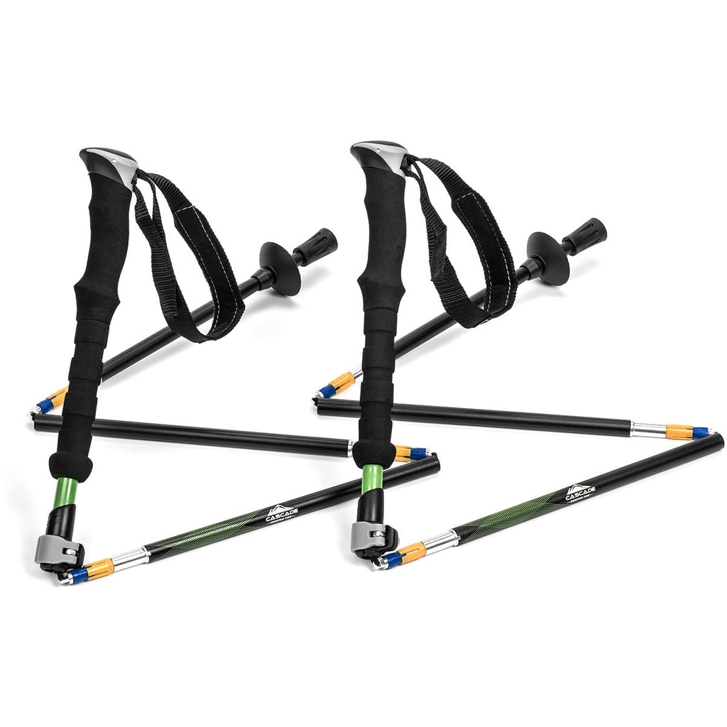 Cascade Mountain Tech Aluminum Folding Trekking Poles EVA Grip