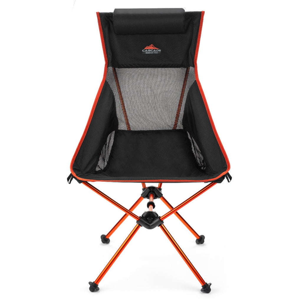 Ultralight Packable High-Back Camp Chair with Sand Feet