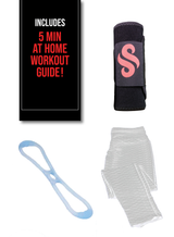 image-main:Anti-Cellulite Leggings, Sweat Belt, and Resistance Band Bundle