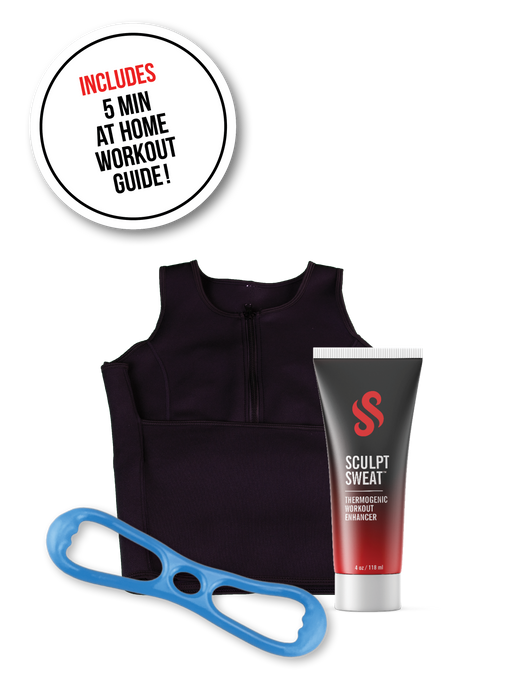 image-main:Sweat Vest, Sweat Cream, and Resistance Band Bundle - Blue Hard