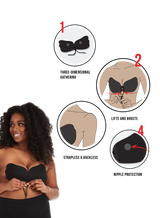 image-main:The Perfect Sculpt Strapless Push Up Bra Black & Beige Bundle Of 2