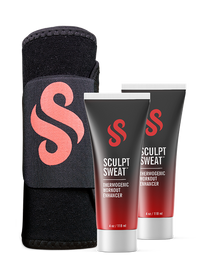 2 Sweat Creams + Free Sculpt Sweat Belt (One Size Fits All)