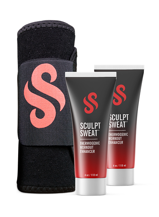 image-main:Mens Sweat Belt + 2 Sculpt Sweat Creams