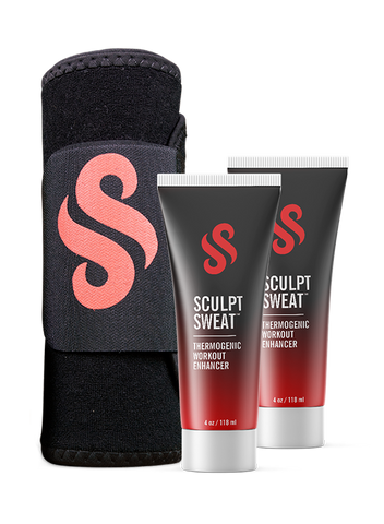 Mens Sweat Belt + 2 Sculpt Sweat Creams