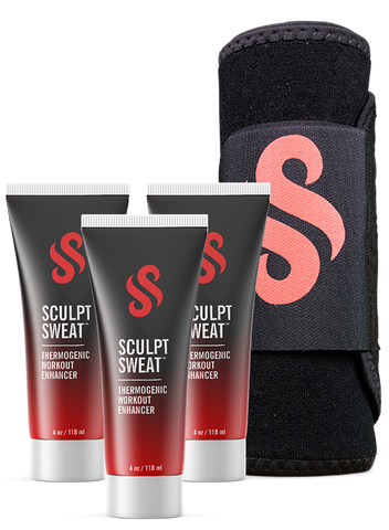 Mens Sweat Belt + 3 Sculpt Sweat Creams