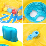 Inflatable Mother and Toddler Swimming Ring