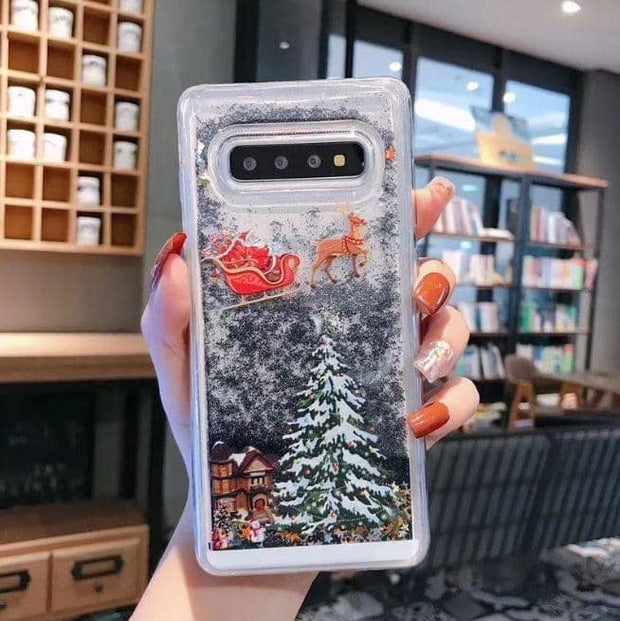 Christmas 3D Shiny Sand Phone Cases