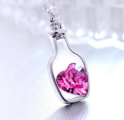 Love in the bottle necklace