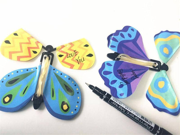 Magic Wind Up Flying Butterfly