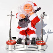 Electric Santa Claus Playing Music Instruments