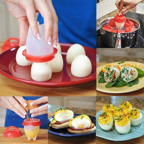 Silicone Egglette Cooker - Boiling Egg Without Shell