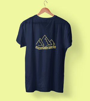 "Open image in slideshow, ""Sierra"" Shirt- Navy Tee/ Yellow Logo"