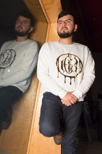 EDR gold drip sweater