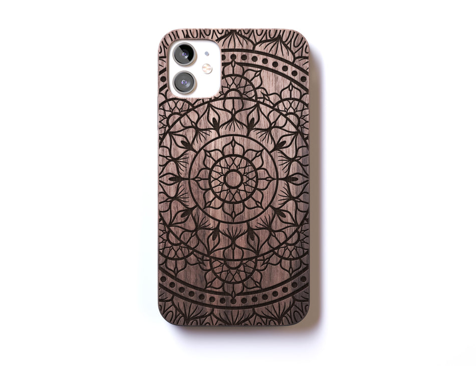 Real wood iPhone 11 Pro case, premium laser engraved phone cases