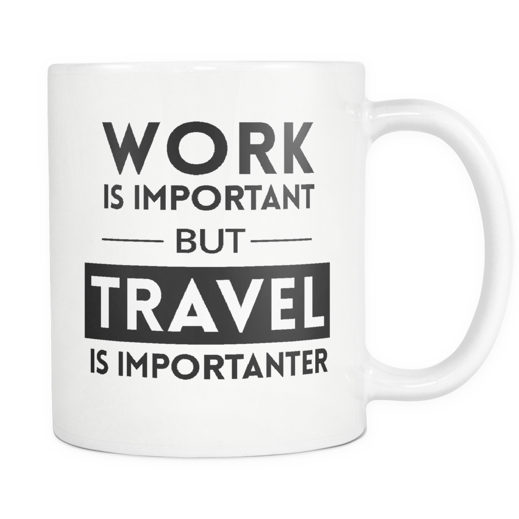Travel is Importanter White Mug