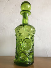 Blenko Decanter Green Art Glass