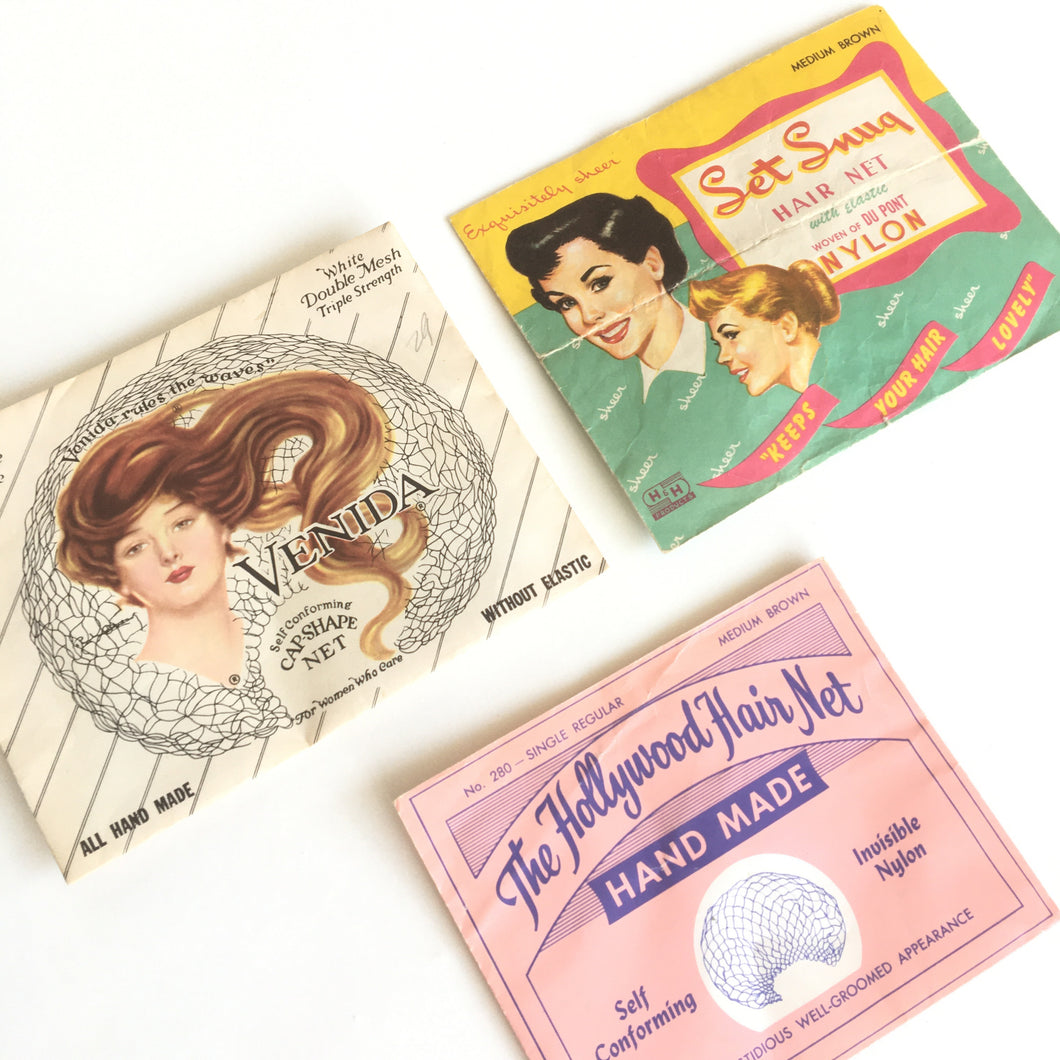 Vintage Hair Nets • 3 packs