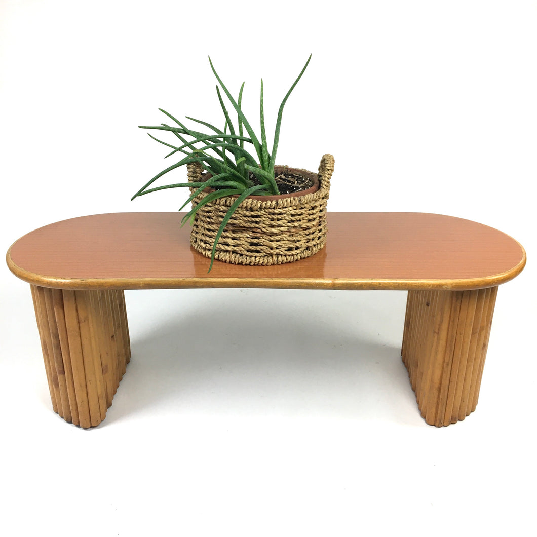 Mid Century Rattan Coffee Table