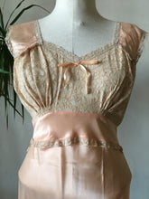 1940s Pink Satin Nightgown