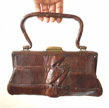 Petite Antique alligator handbag