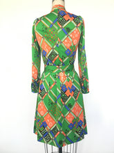 1960s MOD Japanese novelty print dress • s/m