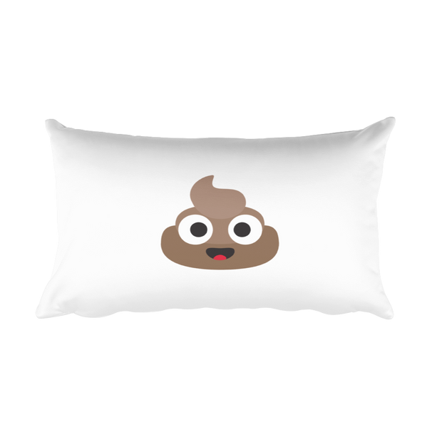 Happy Poop Rectangular Pillow
