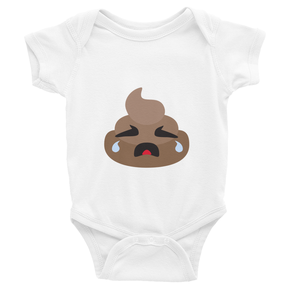 Crying Poop Infant Bodysuit