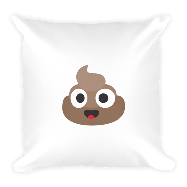 Happy Poop Square Pillow