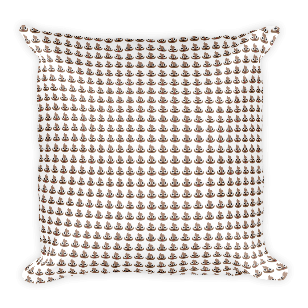 Poop Pattern Square Pillow