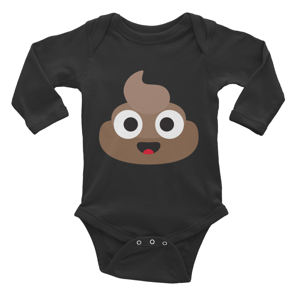 Happy Poop Baby Long Sleeve Bodysuit