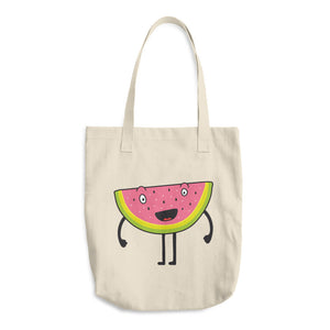 Happy Melon Cotton Tote Bag