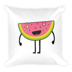 Happy Melon Square Pillow