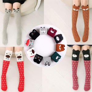 Cute Girls Animal Print Knee Socks