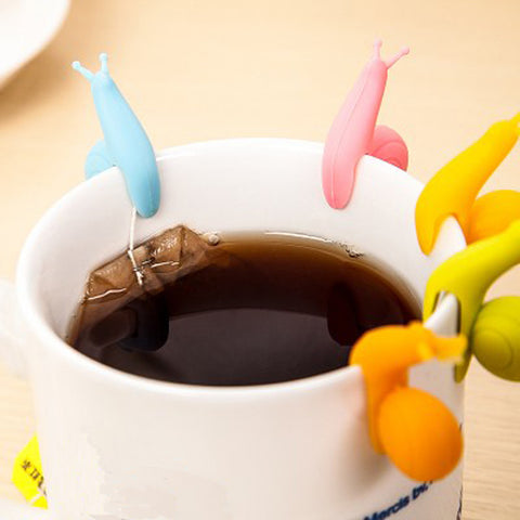 Cute Snail Shape Silicone Tea Bag Holder (5pcs) - The Dad Guy