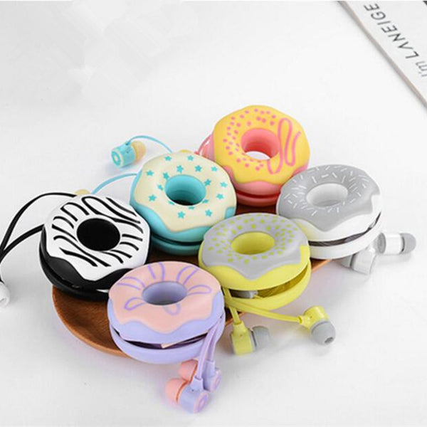 Cute Donuts Earphones With Microphone and Earphone Case - The Dad Guy
