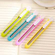 Lovely Candy Color Plastic Paper Knife For Kids