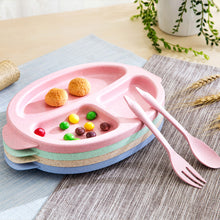 Eco-Friendly Kids Divided Lunch Plate Set