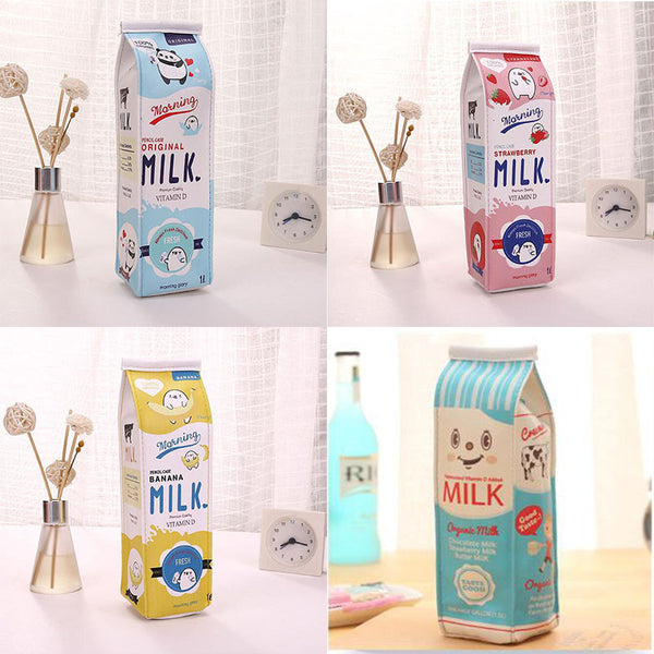 Cartoon Milk Bottle School Pencil Case