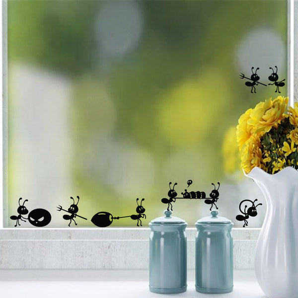 Ant Insects Mirror Window Stickers