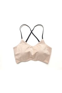 Nude Suede Pole Bra Top