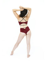 Load image into Gallery viewer, Red Suede Highwaisted Pole Outfit