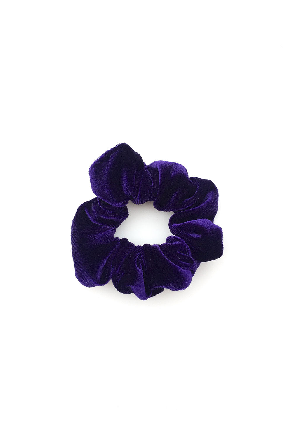 Purple Velvet Scrunchie