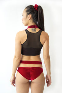 Mesh Back Pole Crop Top
