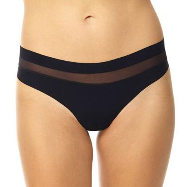 Commando Chic Mesh Thong black front